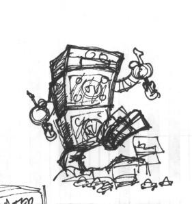 ROBOT MONSTER SKETCH